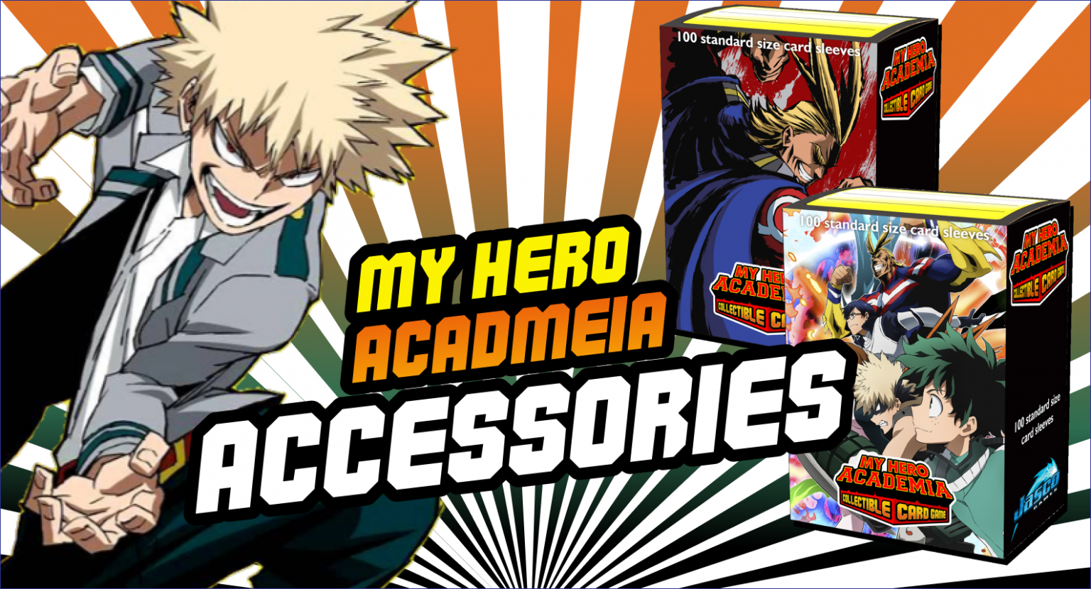 My Hero Academia collectible card game accessories